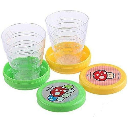 Folding Collapsible Magic Cup Set of 2  folding cups - Mug Glass for Travel - halfrate.in
