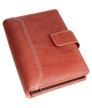 2021 Faux Leather Diary Business Organizer-Planner/Daily Planner Personal Diary, Card-Document Holder (Brown) Big size - 9.5 X 7 Inches