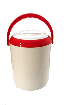 ASIAN Super 4 Highly Insulated Thermo Tiffin Carrier/Lunch Box/Tiffin Set/Tiffin Box/Lunch Set (Red & White)