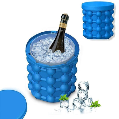 Silicone Ice Cube Maker | The Innovation Space Saving Ice Cube Maker | Bucket Revolutionary Space Saving Ice-Ball Makers - halfrate.in