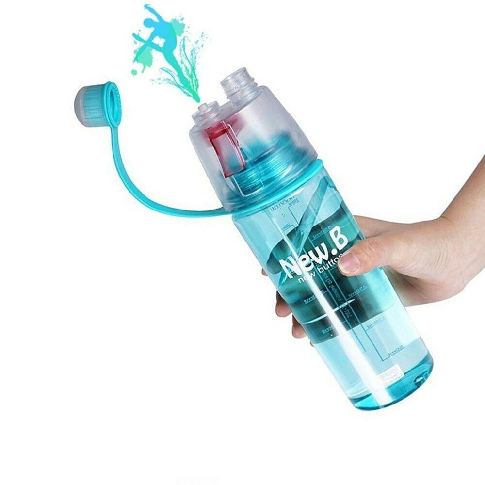 Stylish Water cum Mist Spray Bottle, 2 in 1 Drink & Spray Water Gym, Sports Bottle BPA Free, 600ml - halfrate.in
