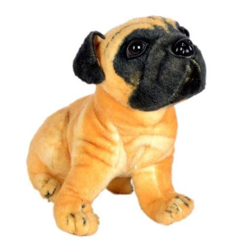 Cute VODA Pug Stuffed Soft Plush Dog Toy - Brown (32cm) - halfrate.in