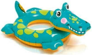 Intex Crocodile Swim Ring for Kids / Swim Ring / Swimming Floaters / Crocodile Shaped Swimming Rings for Kids Inflatable Pool Accessory (Multicolor) - halfrate.in