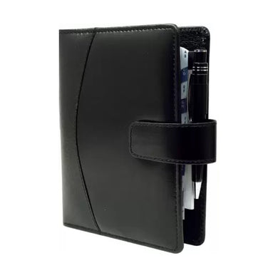 2021 Faux Leather Diary Business Organizer-Planner/Daily Planner Personal Diary, Card-Document Holder (Black) Big size - 9.5 X 7 Inches