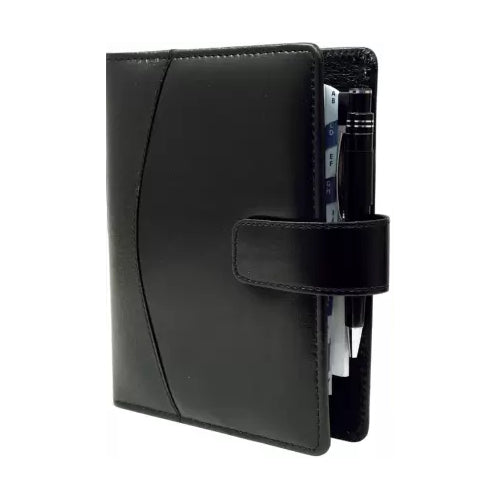 2021 Faux Leather Planners Diary 2021 Handy Business Organizer-Planner/Daily Day Planner Personal Diary, Card-Document Holder with Pen holder (Black) Big size - 9.5 X 7 Inches