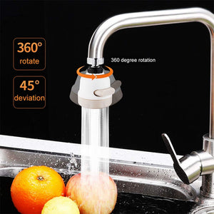 360 Degree Movable Faucet Aerator, Water-Saving Sprinkler and Device, 3-Gear Adjustable Head Nozzle Universal Adapter Sprayer for Kitchen and Bathroom