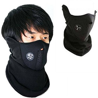 Face mask for pollution Half Face Mask For Men and Women, Bike Riding Mask | Black