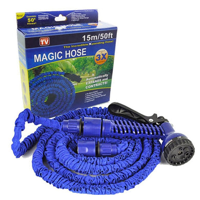 15 Meter Flat Hose Water Gun Spray Garden Pet Car Washing Jet Spray Gun wash multi slots for different water sprays