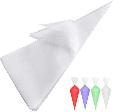 Cake Disposable Piping Icing Bags Polythene Disposable Piping Bags | Pastry, Cake Decorating Bags, 26 x 17 cm (Pack of 50) - halfrate.in