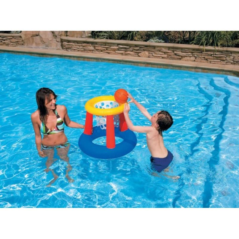 Intex Floating Hoops - Inflatable Basketball Water Pool Sport Toy - 58504 - halfrate.in