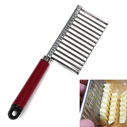 Crinkle Cut Knife Potato Chip Cutter With Wavy Blade French Fry Cutter - Wavy Vegetable - Cutter Potato Cucumber Carrot