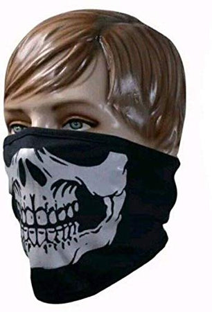 Half Face Skeleton Print Anti Pollution Face Mask for Driving / Biking