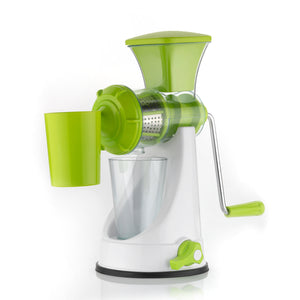 Fruit and Vegetable, Manual Juicer, Non-Electric with Steel filter jali Handle and Waste Collector