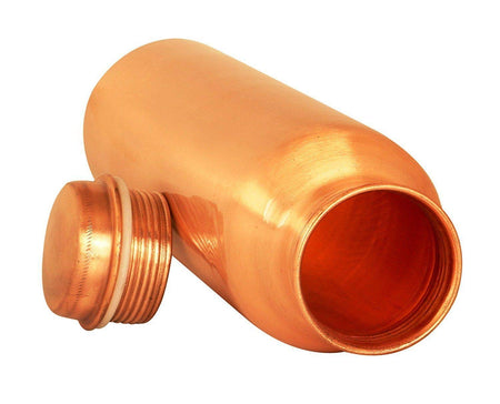 Pure Copper Handmade Water Bottle, 1000Ml, Joint Free, Leak Proof, for Home, Office, Travel Purpose and for Ayurvedic Health Benefits