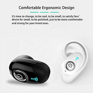 Ekdant® Small Kaju Bluetooth earpiece, Mini S650 Hands-Free Bluetooth Earbuds Headset Earphones with Mic for iOS,andoirds Other Smartphones - Black - halfrate.in