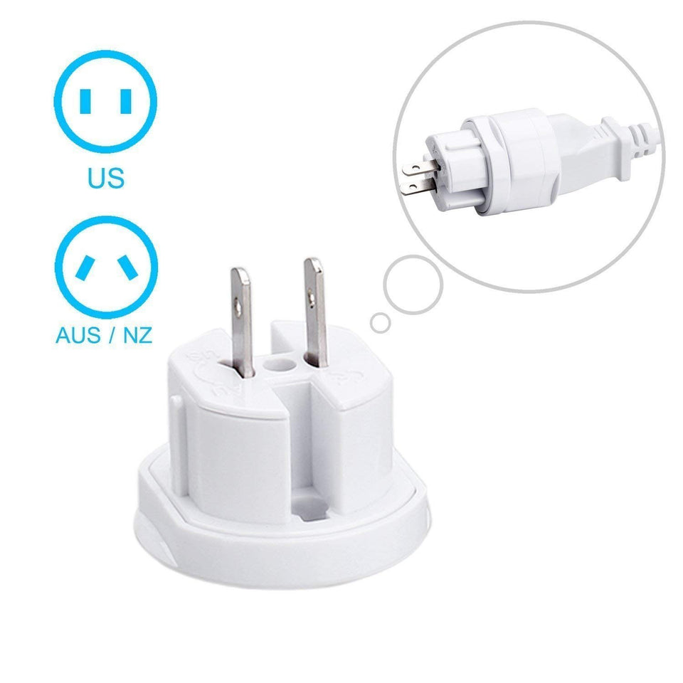 Ekdant® Universal Travel Adapter Round All in One -Supports over 150 Countries Including US, AUS, NZ, Europe, UK - halfrate.in