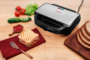 Clearline Non Stick Coated Jumbo Sandwich Toaster Black-Silver - halfrate.in