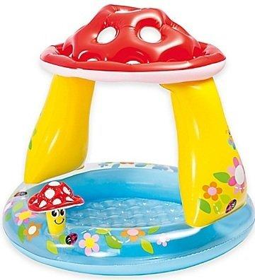 Mushroom Baby Pool | Suitable for a Child 1 to 3 Years, Mushroom Canopy Provides Shade from the Sun - halfrate.in