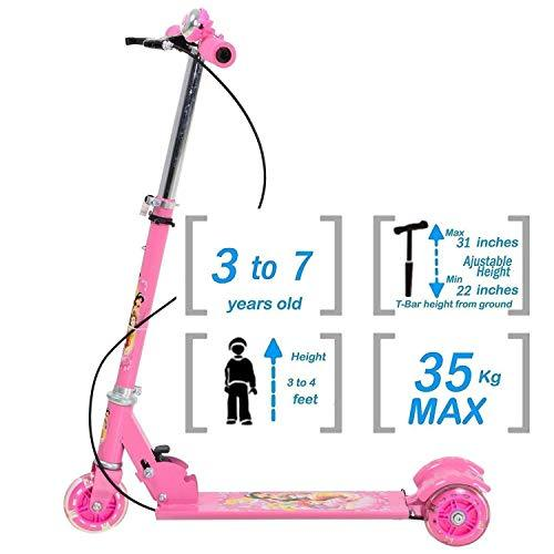 Kids scooty  3 Wheel Foldable with Brake Scooter Cycle with Height Adjustment Height Adjustable for Boys and Girls (3 to 7 Years) - halfrate.in