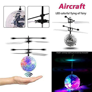 Hand Control Flying Ball with Motion Sensors and 3D Lights,Gravity Sensor Lights, Multi Infrared Induction RC Built-in LED Light Helicopter Toys - halfrate.in