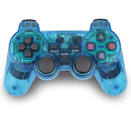 Wireless PS2 Dual Vibration Controller for Sony Playstation 2 (Blue) - halfrate.in
