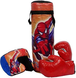 Kids Boxing Punching Bag KIT with 2 Gloves & 1 Head Guard for Kids Boxing - halfrate.in