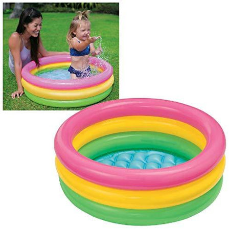 Intex Inflatable Kids Bath Tub-3Ft,Multicolor - halfrate.in