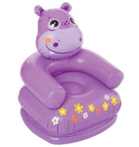 Intex Happy Animal Chair Assortment - Hippo, Multi Color - halfrate.in