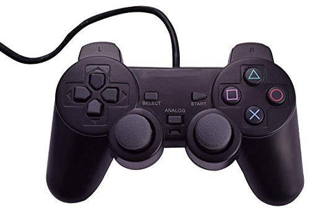 Wired Dualshock Remote Controller Compatible With Sony ps2  Playstation-2 (Black) - halfrate.in