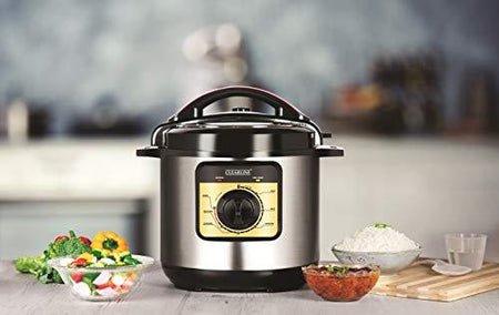 Clearline Appliances 6 Litre Electric Pressure Cooker with Multiple Safety Functions - halfrate.in