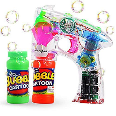 Bubble Shooter Gun with Sounds and Music – 2 Bubble Solution Included - Assorted Colors - halfrate.in