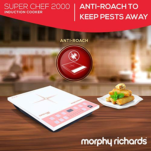 Morphy Richards Super Chef 2000 Watts Induction Cooker (White & Pink)