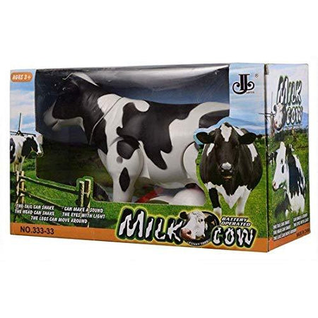 Battery Operated Walking Cow Light and Sound Toy for Kids - halfrate.in