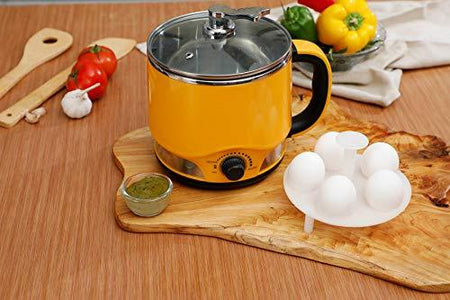 Clearline 8-in-1 Multi-cook Kettle : Vibrant Yellow Colour - One Appliance : Multiple Function - halfrate.in
