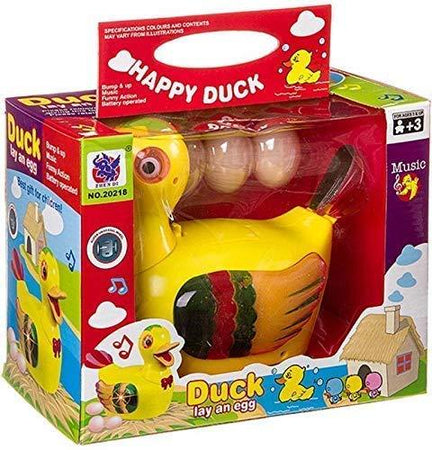 Toys Duck Lays Eggs Battery Operated, Eggs Laying Musical Duck Toys - halfrate.in