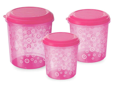 Asian Stylo Airtight Plastic Storage Containers, Set Of 3 + Set Of 3 (1600+2500+4100)