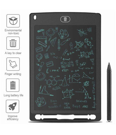 "8.5"" Ultra-Thin LCD Portable Rewritable Erasable Paperless Memo Writing Tablet Ruff Pad E-Writer Digital Drawing Board with Pen (Multi Colour) - halfrate.in"