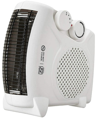 Room Heater Vertical Compact Shock proof Plastic Body 1000 / 2000 Watt Dual selection White colour, Ideal for small to medium room/area