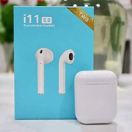i11S TWS 5.0 Wireless Bluetooth Headphone Earphone earpods, Airpod style with Mic for iOS & Android Bluetooth - halfrate.in