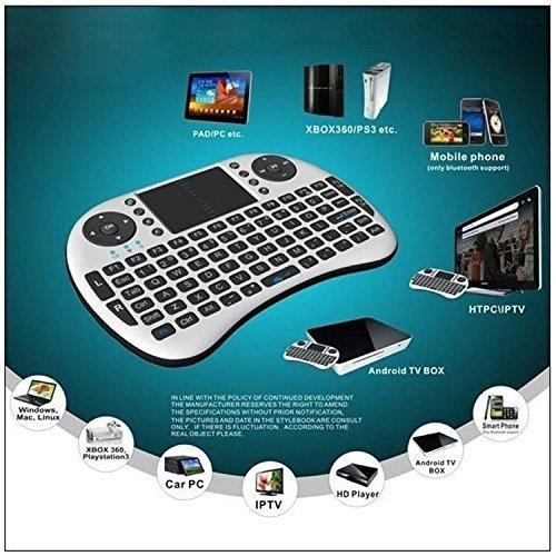 Ekdant® Mini 2.4GHz Wireless Touchpad Wireless Keyboard and Mouse (Touchpad with Backlight) with Smart Function for Smart Tv, Android Tv Box, Raspberry-Pi, Android & iOS Devices - halfrate.in