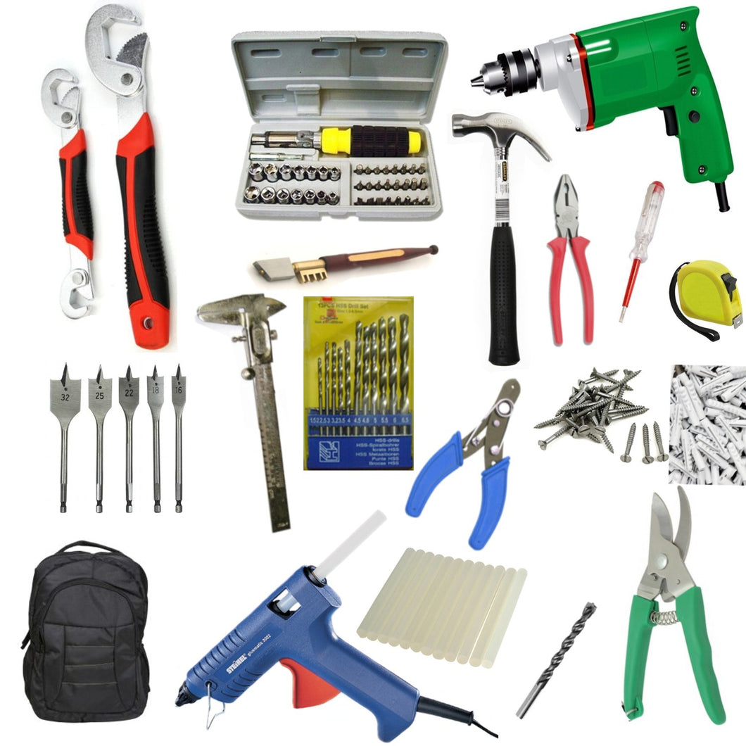 Saleshop365® 234 pcs GBT Power Tools Combo3 toolkit drill- Must in your Home - halfrate.in