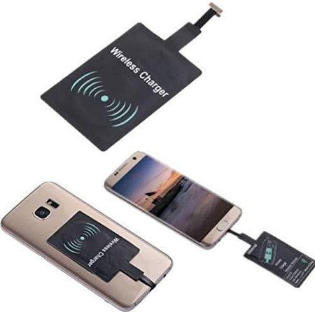 Wireless Charger Receiver Charging Transmitter Micro USB and Android V8 Pin - Convert your normal Phone Wireless charging compatible - halfrate.in