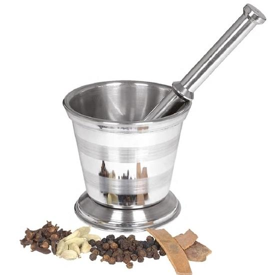 Khalbatta Okhli Masher, Mortar and Pestle Set  Size 3 - Mash Hard Spices easily - halfrate.in