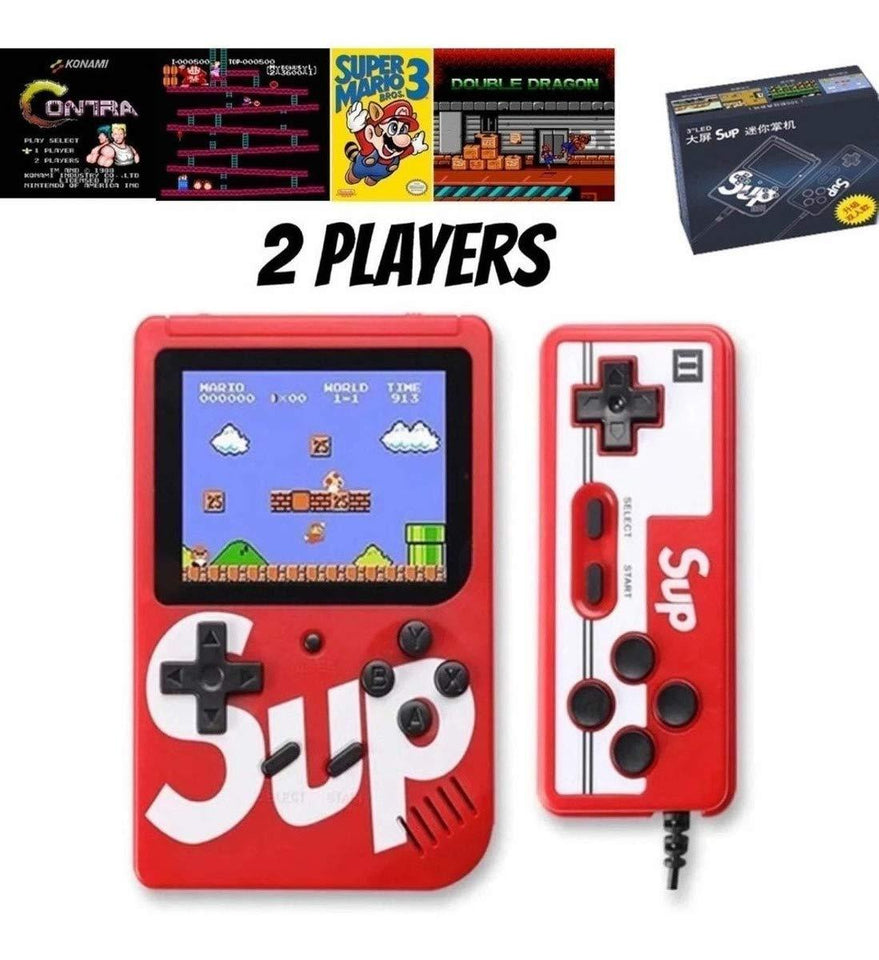 Ekdant® Sup 2 Player Video Game with Rechargeable Battery Handheld Console Colorful LCD Screen Portable Game with Remote Control with 400 in 1 Games - halfrate.in
