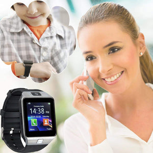 Ekdant® DZ09 Smart Watch Smartwatch Bluetooth Touchscreen Sweat Proof Phone with Camera TF/SIM Card Slot for Android and iPhone Smartphones - halfrate.in