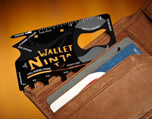 Saleshop365® Wallet Ninja 18-in-1 Multi-purpose Credit Card Size Pocket Tool - halfrate.in