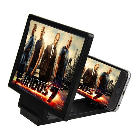 Ekdant® Mobile Phone 3D Screen Magnifier Enlarger Video Screen Amplifier Screen Enlarged Foldable Stand Holder Expander Compatible with All Smartphone - halfrate.in