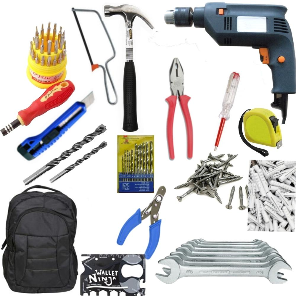 Saleshop365® 214 pcs GBT Power Tools Combo 4 - Must in your Home - halfrate.in