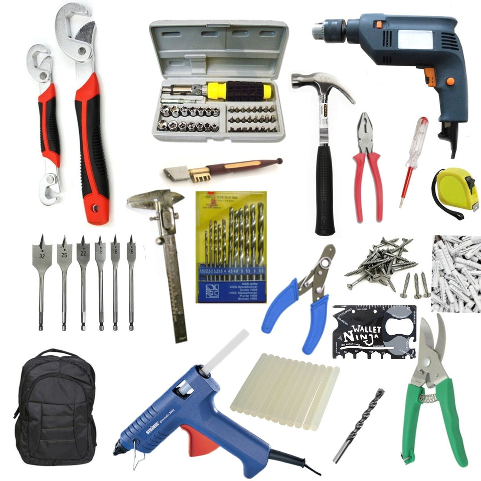 Saleshop365® 235 pcs GBT Power Tools Combo 5 - Must in your Home - halfrate.in