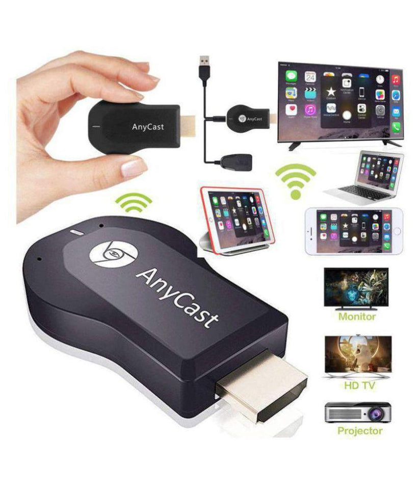 Anycast WiFi Wireless Display Dongle | DLNA Airplay | Wireless HDMI Mirroring WiFi Dongle Display, TV Dongle Receiver Easy Sharing Wireless Streaming Compatible with Android and iOS - halfrate.in